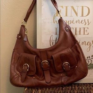 Beautiful vintage leather hobo bag by Talbots